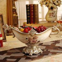 new year new year Fashion fruit plate luxury quality royal vintage dried fruit basin decoration big fruit plate wedding gift
