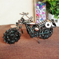 New coming Handmade bronze color metal Motorcycle Model toys for kids birthday gift