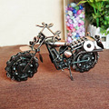 Nuevo venir hechos a mano de color bronce metal modelo de la motocicleta juguetes para niños regalo de cumpleaños
