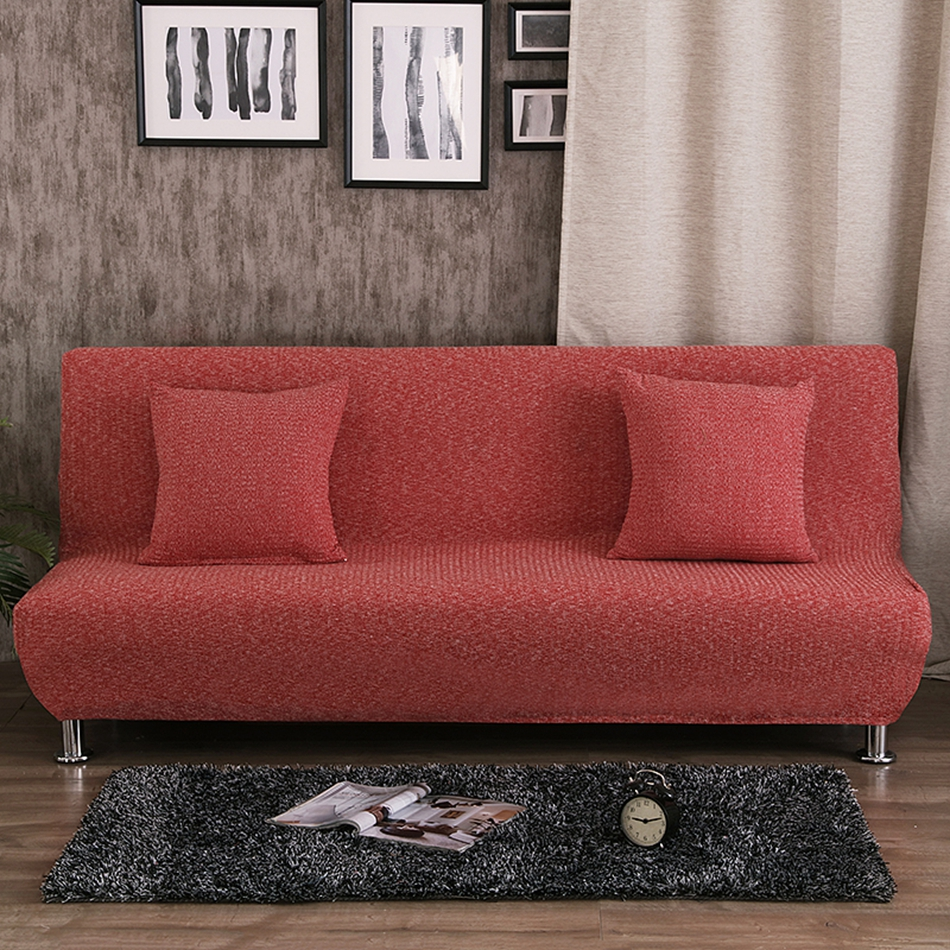 Armless Couch Sofa Covers For Living Room 100 Polyester Bed Slipcovers Universal Elastic Furniture