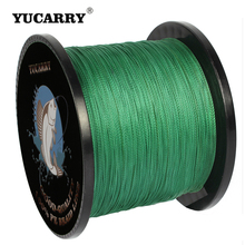 YUCARRY Brand 4 Strands 500M Super Strong PE Braided Fishing Line Multifilament Fishing Line Wire 7 Colors 14-80LB Available 500m 8x dah fishing brand super strong japan multifilament pe braided fishing line 8 strands 15lb 20lb 30lb 40lb 50lb 80lb 100lb