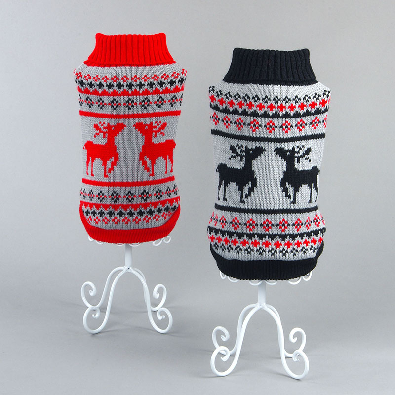 Small Dog Cat Sweater Knit Hoodies For Kitten And Doggy Cute Reindeer Pet Cat Costume Christmas Xmas Cat Clothes Xs S M L Xl 2xl #1