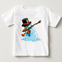 2018 summer kids snowman t shirt baby boys and girls t-shirt for 3T-8T cartoon tops children Short sleeve T