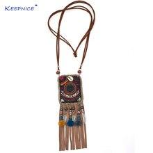 Ожерелье ручной работы в этническом стиле шикарная цепочка с