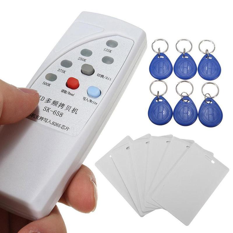 Handheld Rfid Card Reader -Handheld Rfid Writer 13Pcs 125KHz Card Reader Writer Copier Duplicator with 6 Cards/Tags Kit
