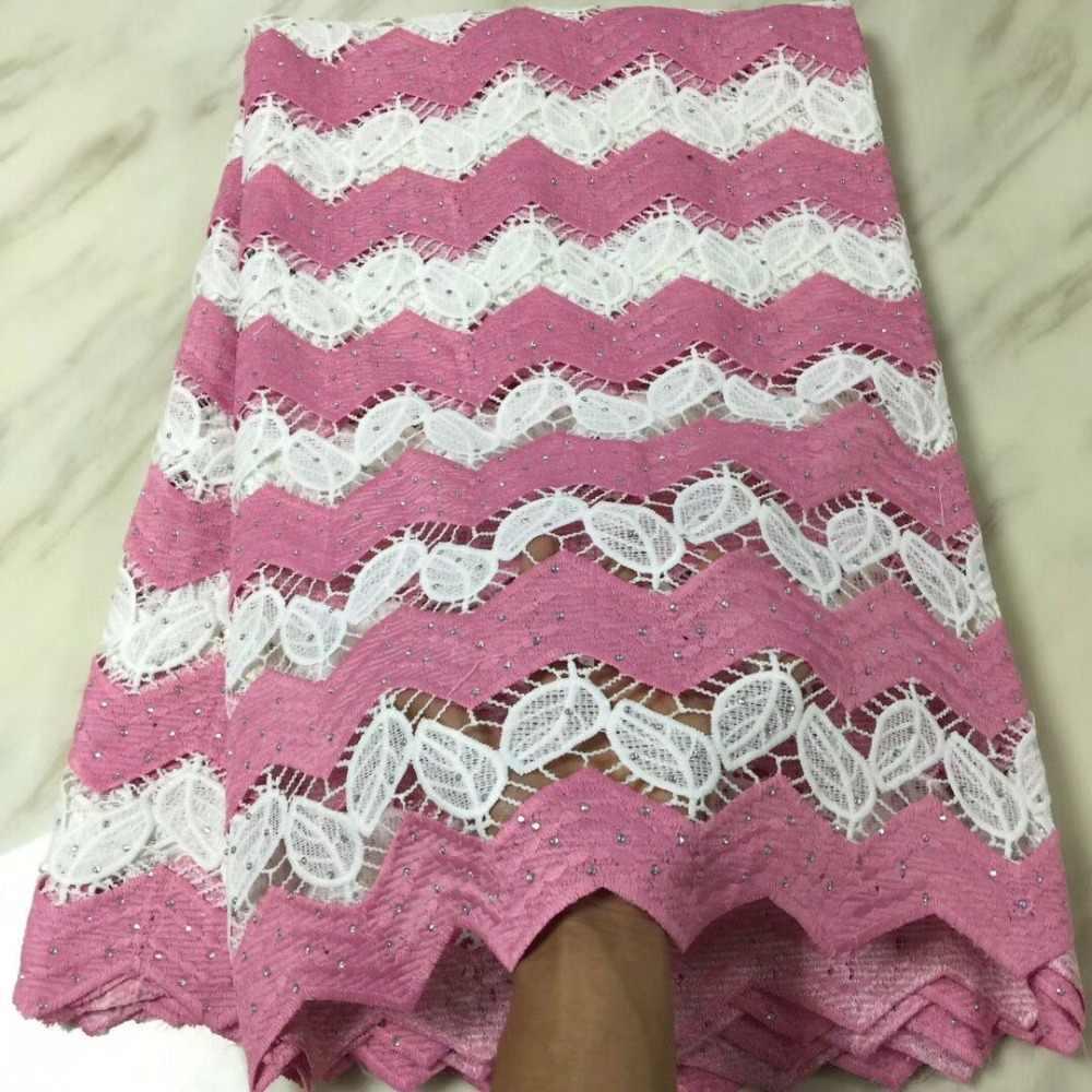 Шнурки для нигерийских вечерние гипюровое кружево с зубчатой кромкой tissu strass perle африканская ткань Золотая кружевная ткань высокого качества 5 ярдов/lotBF-