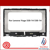 14'' laptop LCD screen with touch screen+frame assembly for LENOVO YOGA 530 14IKB yoga 530 14 series 1366*768 or 1920*1080
