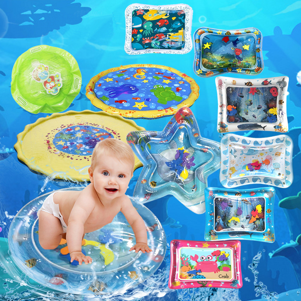 Baby Water Inflatable Play Mat Children Marine Life Thicken PVC Tummy Time Patted Pad Infant Water Cushion Gifts For Kids