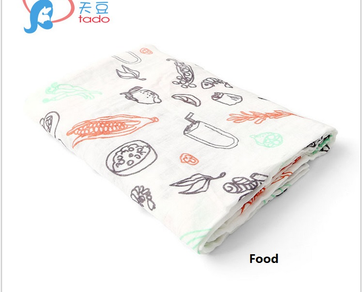 Newborn Baby Swaddle Bamboo Cotton Multifunctional Soft Toddler Bath towel Blankets Infant Kids Muslin Baby Blankets 120*120cm