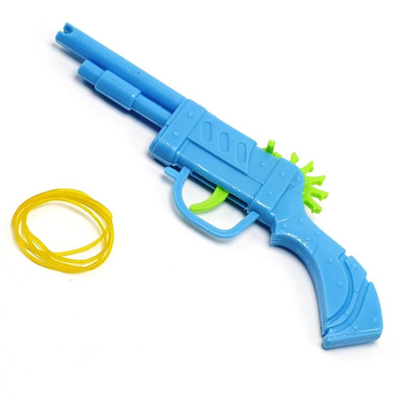 1pcs Classic Mini Plastic Rubber Band Gun Mould Launcher Hand Pistol Shooting Guns For Children Playing Toy For Boys Funnygift