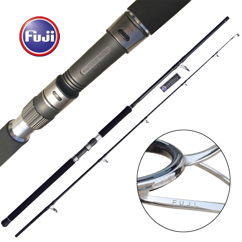 GT Popping 2.35m 2.54m Ocean Popping Rod Fuji Reel Seat Guide Jigging Fishing Rod Boat Rod Made In Japan