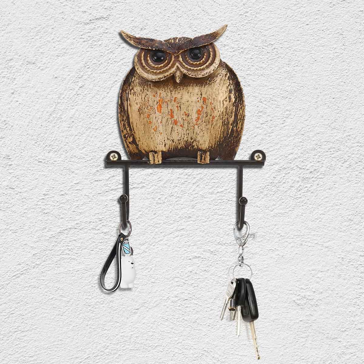 cucina Gancio da parete a forma di gufo soggiorno 3 pezzi carino gancio da parete portatile in ferro artistico gancio da appendere per decorazione domestica da applicare per bagno