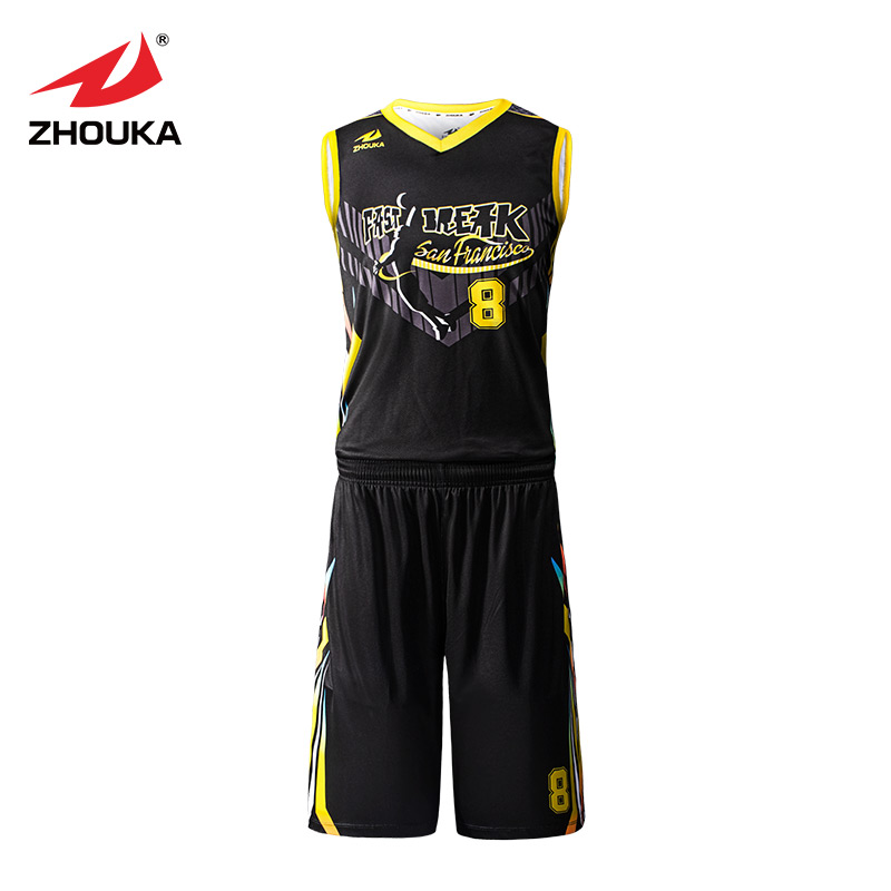 df9c0bc21 Custom cool basketball uniforms sets professional design kids adult  basketball clothes breathable college basketball jerseys