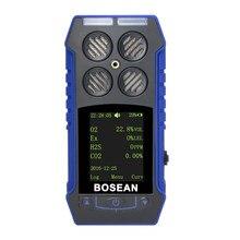 4In1 Gas Detector Flammable Gas EX Oxygen O2 Hydrogen Sulfide H2S Carbon Monoxide CO Alarm Monitor Compound Gas Leak Analyzer