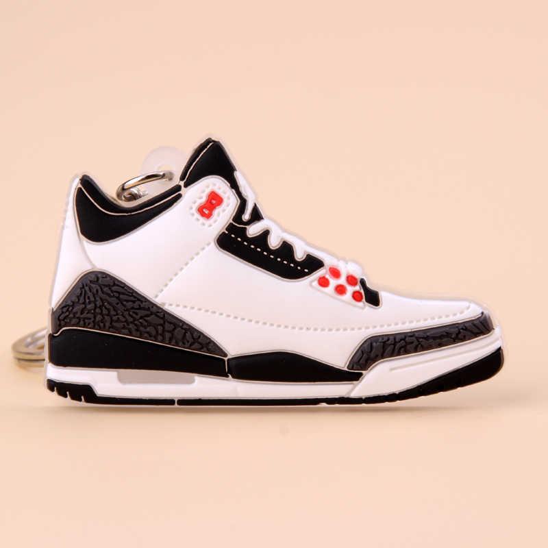 新ミニジョーダン 3 キーホルダー靴男性ウォメ子供キーリングギフトバスケットボールスニーカーキーチェーンキーホルダーポルトクレフ