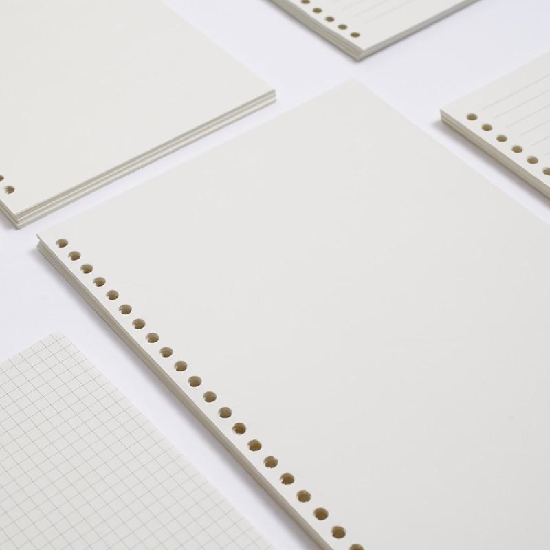 45 o 60 hojas A4 30 agujeros, A5 20 agujeros, B5 26 agujeros papel sin madera, forrado/Comprobar/en blanco papeles y hojas sueltas