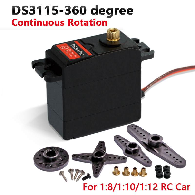 US $40 61 5% OFF|Freeship servo 360 degree Continuous Rotation Servo DS3115  Metal gear arduino servo Digital servo 15kg/cm-in Parts & Accessories from