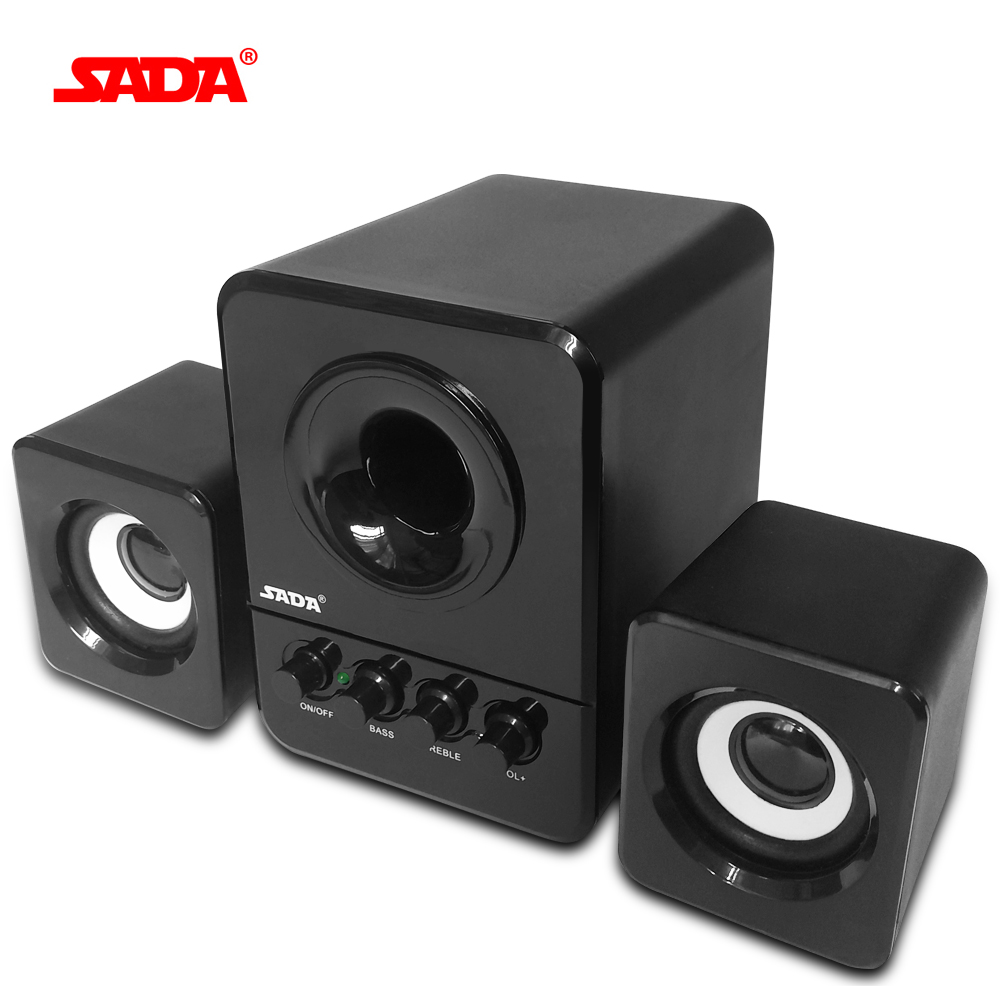 SADA Wired Mini Portable Combination Speaker Laptop Computer Mobile Column Computer Speaker USB 2.1 Bass Cannon 3W PC Speakers