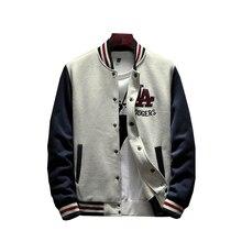 Patchwork Appliques Casual Baseball Uniform Coat Male Jaquet