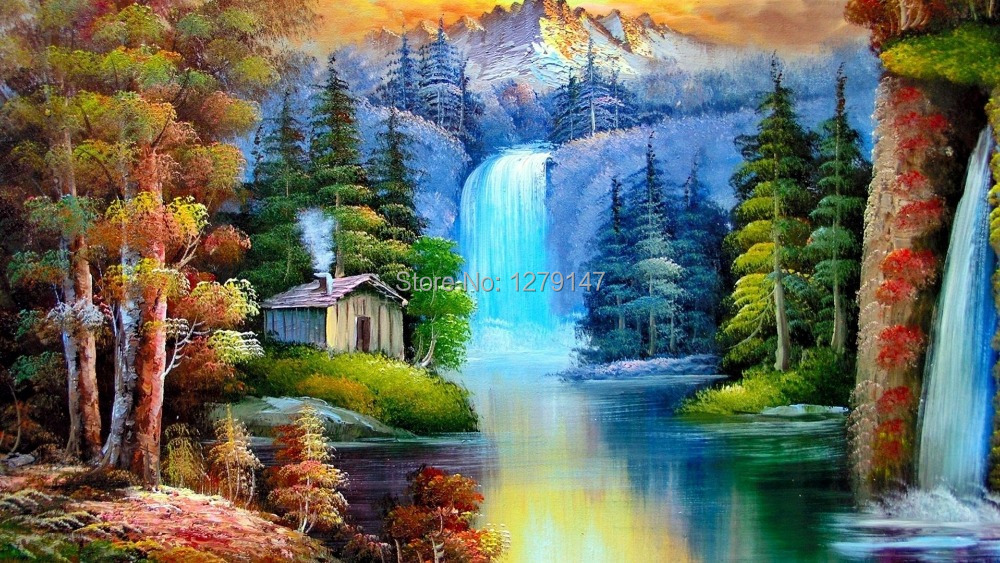 nature paintings canvas prints realistic oil painting picture