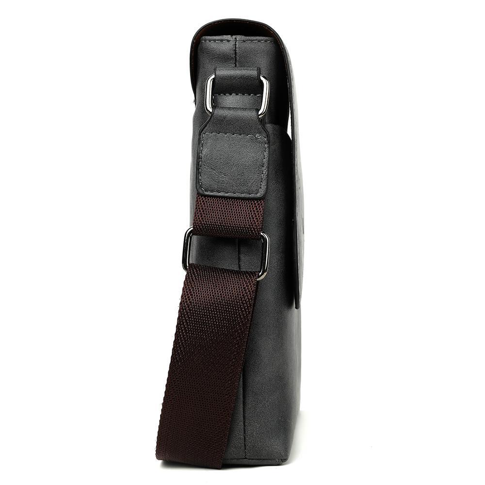 Image 3 - VICUNA POLO Vintage Frosted Leather Messenger Bag For Man Brand Business Man Bag Men's Shoulder Bags Front Pocket Men Handbag
