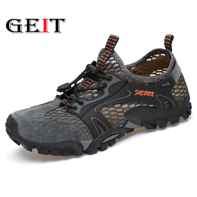 Hiking Shoes Mesh (Air mesh) Breathable Light Shoes Beach&Outdoor Sport Sandals Mountaineer Walking Climbing Trip Sneakers