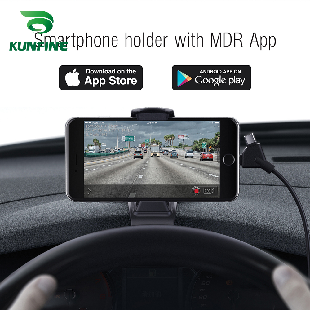 Smartphone Holder with MDR App As Car DVR Camera Dash cam And 3-in-1 Ultra Fast USB Car Charger driving recorder