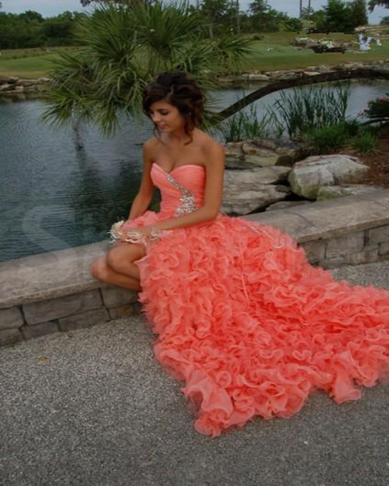 Online Get Cheap Coral Colored Prom Dresses -Aliexpress.com ...