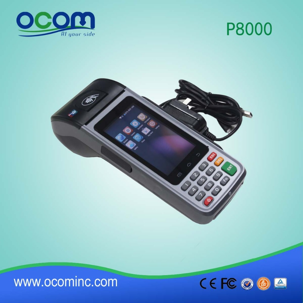 P8000S Handheld Android POS Terminal with payment function