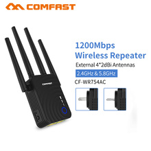 Comfast CF WR754AC 1200Mbps Wireless N Router Wifi Repeater 5Ghz Lange Wi fi Range Extender Booster 4 * 2dbi Antenne Versterker