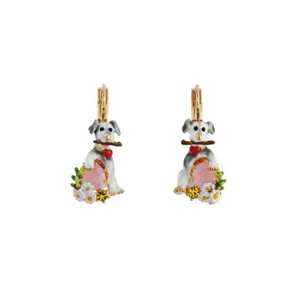 New Product Adorable Search Pets Dog Series High-end Enamel Glaze Puppy Crystal Dogs Earrings Eardrop Mixed Batch