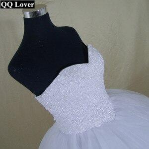 Image 4 - 2020 Bling Bling Shining Crystals Ball Gown Wedding Dress Custom made Bridal Gown Robe De Mariage  Vestido De Noiva