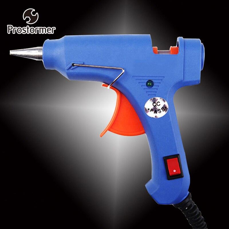 Crazy Power 20 W EU Plug Hot Melt Pistola de Cola Industrial Armas Mini Gluegun Thermo Elétrico Temperatura de Calor Ferramenta de Reparo Do Enxerto DIY