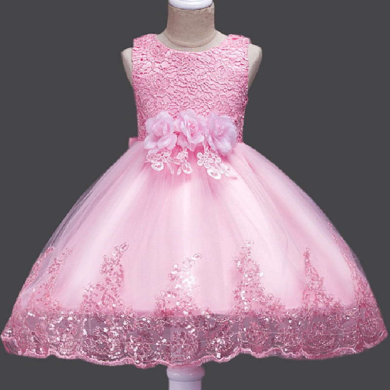 Princess Baby Kid Party Dress Flower Girl Bridesmaid Wedding Formal Gown Dresses