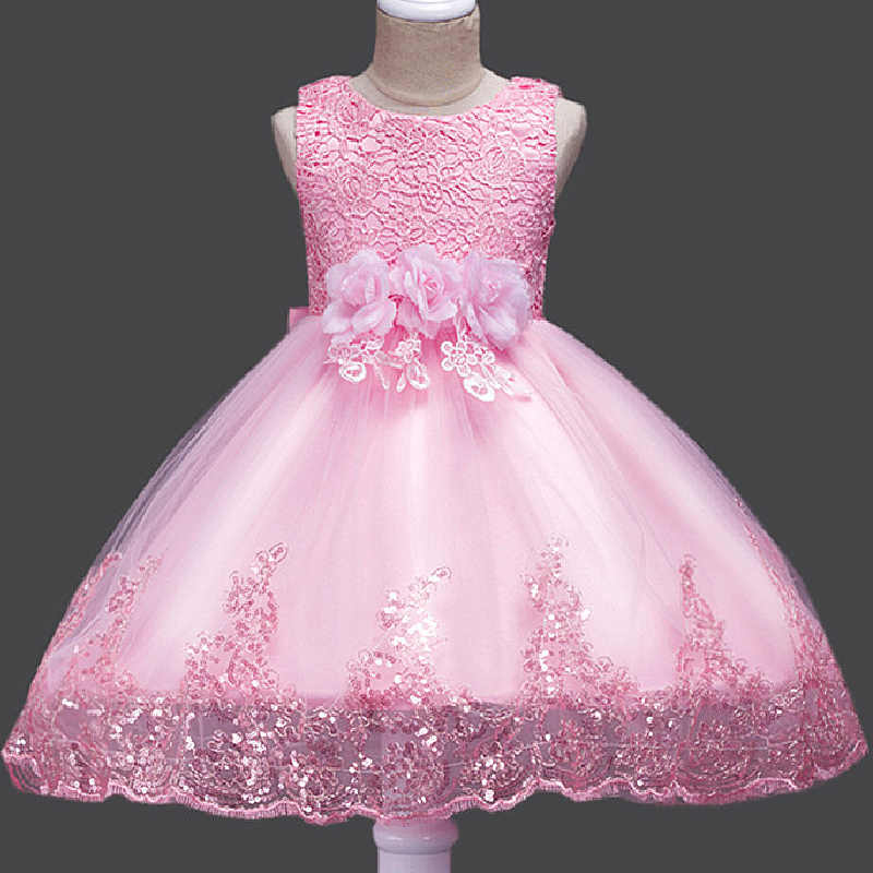 e11d9560cfec Detail Feedback Questions about Lace Sequins Formal Evening Wedding Gown  Tutu Princess Dress Flower Girls Children Clothing Kids Party Dress for Girl  ...