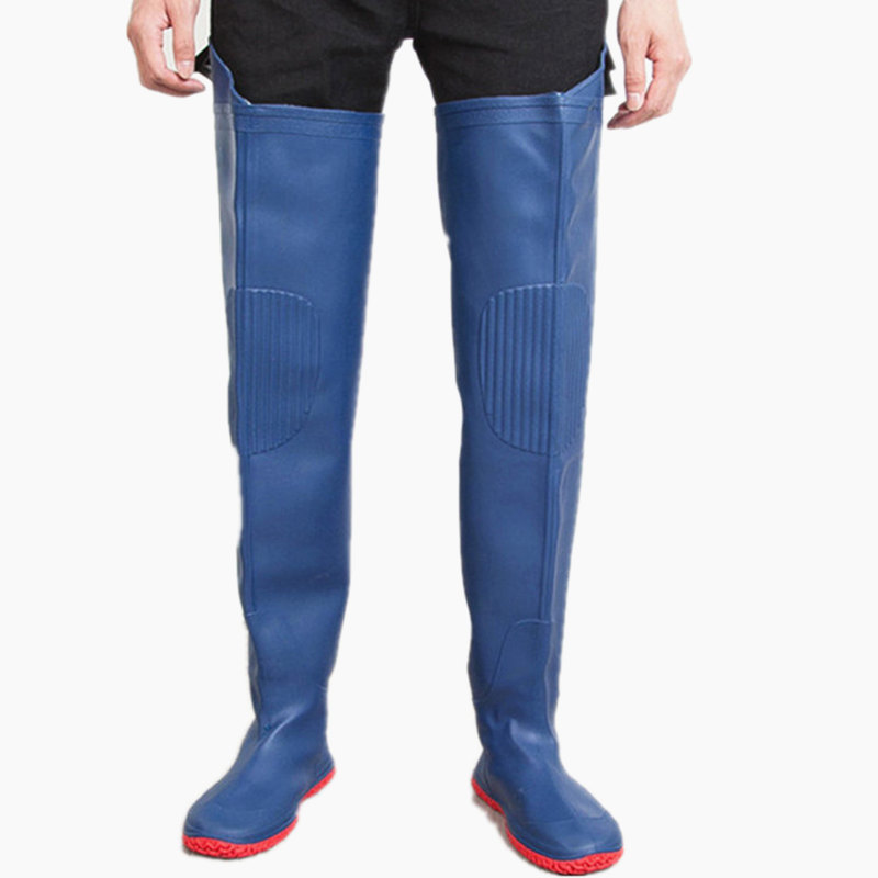 High Jump 80cm Height Fly Fishing Waders Boots Waterproof 0 55mm Thickening PVC Material Knee Soft