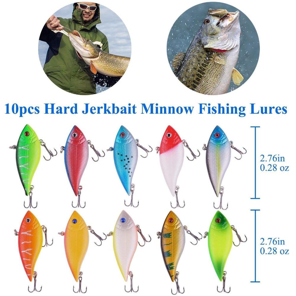 PLUSINNO 10pcs Fishing Lure Crankbait Kit  2