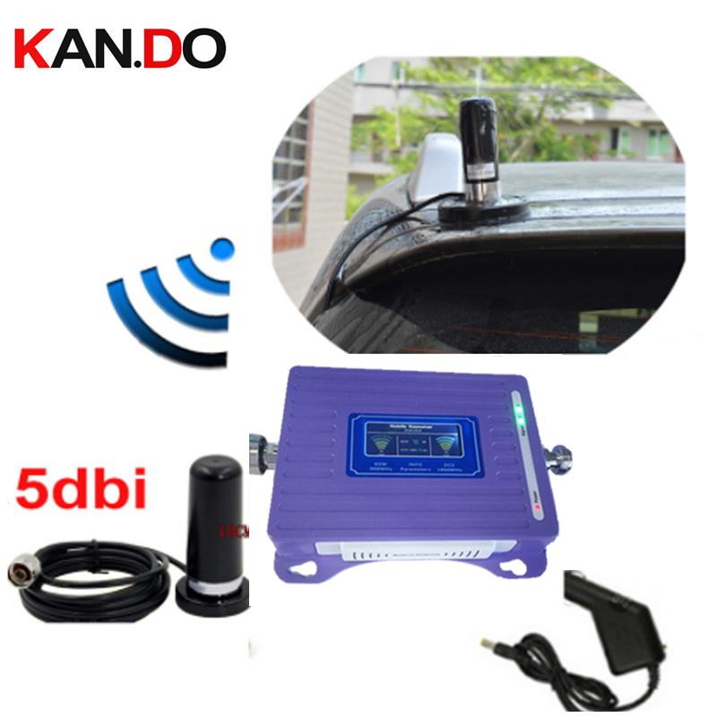 Special For Car 2G 4G Repeater With Cable Antenna LCD Display Dual Bands GSM 4G Booster Repeater DCS 900 1800mhz 4g Booster