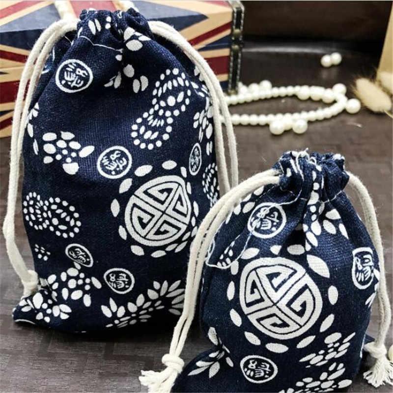 9671595c54f5 Mobile Phone Bag Warm Bag Drawstring Bag Flower Travel Portable ...