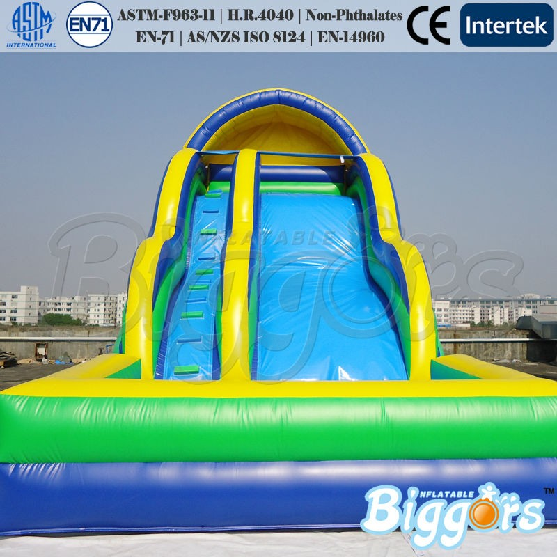 2018 Inflatable Slide Inflatable Water Slide With Pool For Water Game