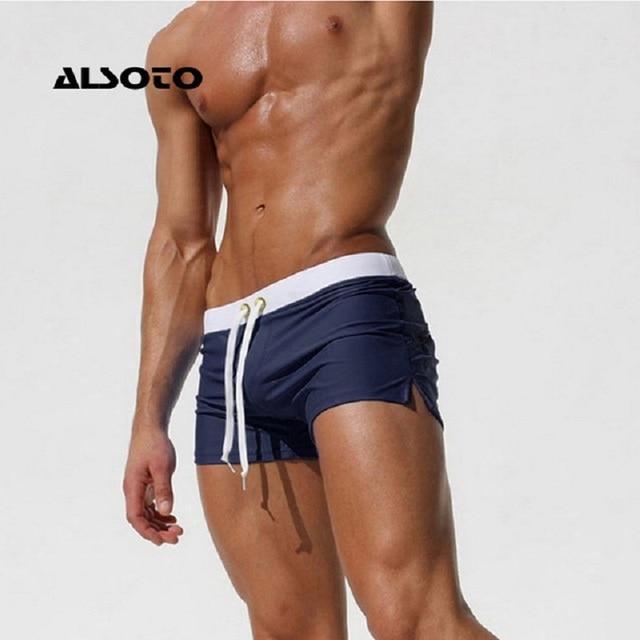 New Fashion Swimwear Men Breathable Men's Swimsuits Trunks Boxer Briefs Sunga SwimSuits Maillot De Bain Beach Shorts 2