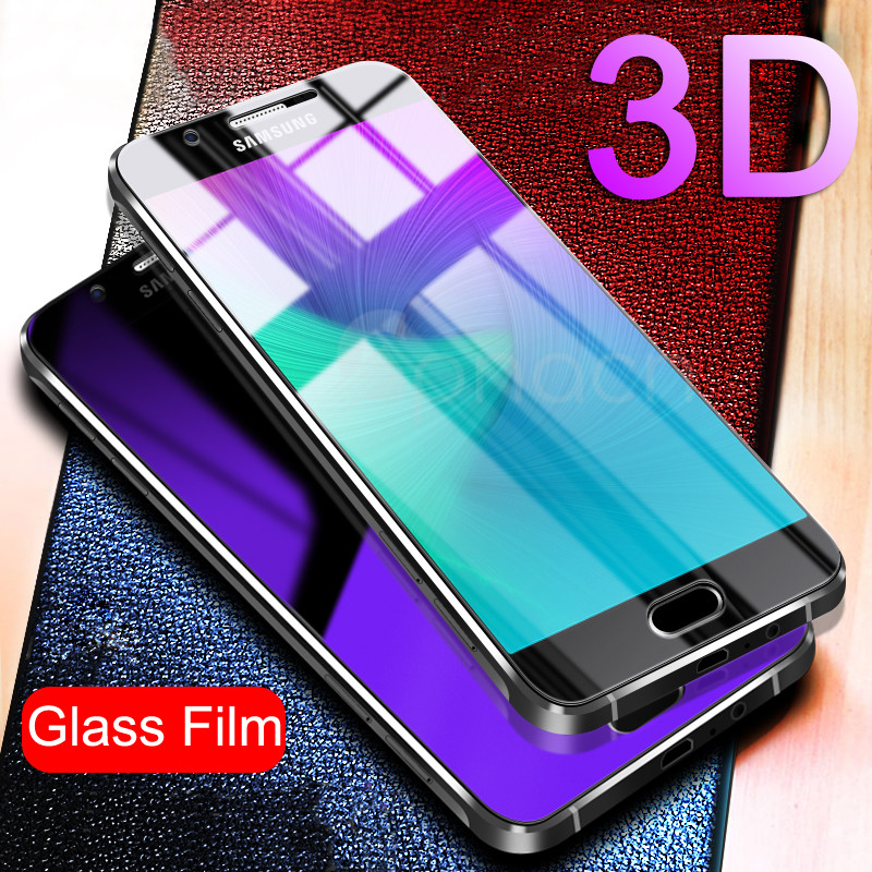 Galleria fotografica 9H 3D Full Cover Tempered Glass For Samsung Galaxy A3 A5 A7 J3 J5 J7 2016 2017 J330 J530 J730 Screen Protector Film Protective