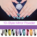 Nova 2g Prego Pó Glitter Shinning Espelho Sombra de Olho Maquiagem pó Poeira Nail Art DIY Glitters Laser Pigmento 2017 Manicure Hot