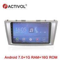 HACTIVOL Android 7,0 радио автомобиль Toyota Camry 40 50 2006 2007 2008 2009 2010 2011 автомобилей Видео плеер gps навигации wi fi
