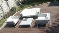 5 Pcs New Design Garden Sofas Pastoralism Home Indoor Outdoor Rattan Sofa For Living Room