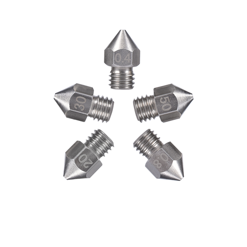3D Printer stainless steel Nozzle Mix 0.4/0.6/0.8mm MK8 Extruder Print Head For 1.75MM ABS PLA Printer wholesale 3d printer makerbot mk8 dual exturder 0 2 0 3 0 4mm nozzle 1 75mm abs pla printer head