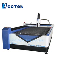 AccTek Cnc Fiber Laser Metal Pipe cutter machine / Tube Cutting Machine For Fire Control Industry 4*8ft