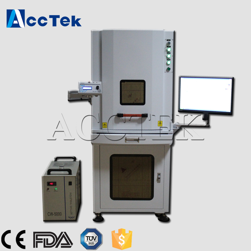 CE standard AccTek 3W 3d crystal uv laser marking machine