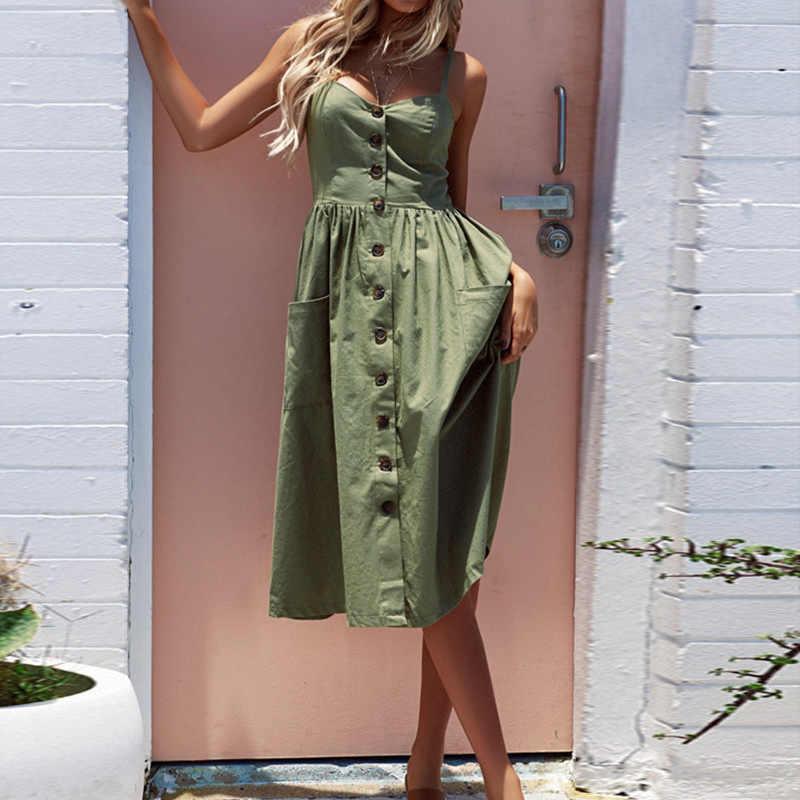夏の女性のドレス 2019 ヴィンテージセクシーなボヘミアン花チュニックビーチドレスサンドレスポケット赤白ドレスストライプ女性ブランド Ali9