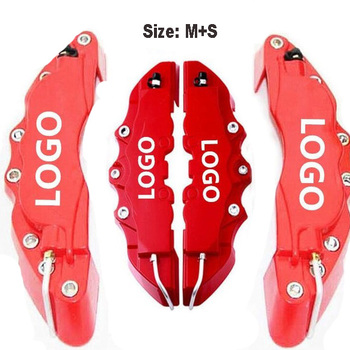 4PCS/2PCS Car Auto Disc Brake Caliper Cover With 3D Word Kit Fit to 14-18 Inches Car Red Brake cover For Brembo Caliper Cover